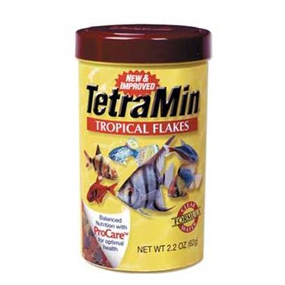 Tetra Usa Presents Tetra Staple 2.82oz (Large Flake). Tetramin Now Features Procare, a Health-Enchancing System that Contains Omega-3 Fatty Acids to Give Fish the 'Healthy Fat' Needed for Energy and Growth, Immune Boosting Ingredients, and a Biotin Supplement to Bolster Metabolism. [29475]