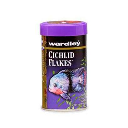 Wardley Presents Ward Cichlid Flake 1 7/8oz. Wardley(R) Cichlid Premium Flakes(Tm) is an Advanced Formula Providing a Superior Balanced Diet for Normal Growth, Coloration, and Health of all Carnivorous and Herbivorous Cichlids. 1.87 Oz.; (53g) [29496]