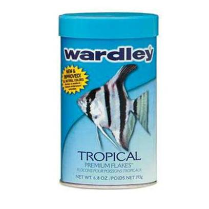 Wardley Presents Ward Tropical Flake 6oz. Wardley(R) Tropical Premium Flakes(Tm) is Reformulated with an Optimal Blend of Ingredients to Deliver Superior Nutrition that Helps Enhance the Natural Coloration, Growth and Vitality of all Tropical Fish. This Product is Fortified with Natural Attractants, Color Enhancers and Highly Digestible Protein Sources Necessary for Fish to Thrive. [29505]