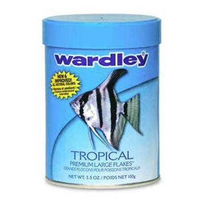 Wardley Presents Ward Tropical Large (Lg) Flake 3.5oz 3.5oz-Large. Wardley(R) Tropical Premium Flakes(Tm) is Reformulated with an Optimal Blend of Ingredients to Deliver Superior Nutrition that Helps Enhance the Natural Coloration, Growth and Vitality of all Tropical Fish. This Product is Fortified with Natural Attractants, Color Enhancers and Highly Digestible Protein Sources Necessary for Fish to Thrive. 3.5.Oz.; (99g) [29509]