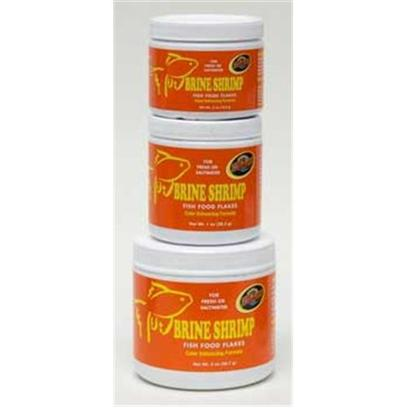 Zoo Med Laboratories Presents Zoo Brine Shrimp Flake Medium (Med) Aquatrol 4oz. Zoo Meds Brine Shrimp Fish Food Flakes Combine Ample Quantities of High Quality Freeze Dried Brine Shrimp, Krill and Plankton. This Premium Food Provides your Fresh or Saltwater Fish with More of the Ingredients they Desire. It also Provides them with Brilliant, Natural Color Enhancement and Growth. For Daily Feeding of Fresh or Saltwater Fish. Balanced High Protein Diet for Color and Growth. [29514]