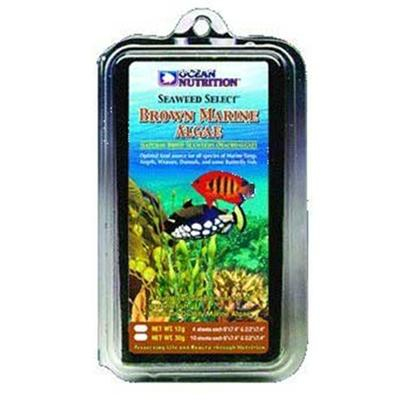 Ocean Nutrition Presents Ocean Nutrition Brown Marine Algae Seaweed Select - .4oz. Marine and Freshwater. Optimal Food Source for all Species of Marine Tangs, Angels, Wrasses, Damsels and some Butterfly Fish. Brown Marine Algae is a Nutritious Supplement for all Grazing Fish, Rich in Vitamin C and is 100% Digestible. [29673]