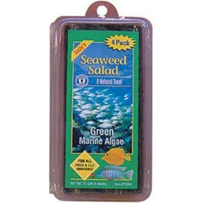 San Francisco Bay Brand Presents San Francisco Bay Brand (Sf) Seaweed Salad Green 4ct 12g. Seaweed Salad is a Natural Treat for your Marine and Freshwater Herbivores. Much More Nutritious than Spinach and Lettuce. Recommended for all Freshwater Algae Eaters, African Cichlids, Silver Dollars, Sharks and all Saltwater Damsels, Clownfish, Angels, and Tangs. [29715]