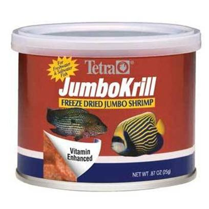 Tetra Usa Presents Tetra Freeze Dry Jumbo Shrimp Dried 3.5oz. A Nutritious Treat for all Medium and Large Tropicals, Jumbo Shrimp are High in Vitamin C and Great for Cichlids, Oscars and Bottom-Feeding Fish Such as Catfish and Loaches. [29721]