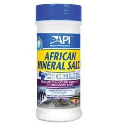 Aquarium Pharmaceuticals Presents Aquarium Pharmaceuticals (Ap) Cichlid African Mineral Salt 8.4oz (240g). Contains all the Trace Elements Required to Create a Healthy Environment for African Cichlids without Altering Ph. Contains all the Trace Elements Required to Create a Healthy Environment for African Cichlids without Altering Ph. Recreates the Natural Hardness of African Rift Lakes. Use with Buffer Max Cichlid to Achieve the Desired Water Hardness or Alkalinity. 240 G/8.4 Oz Treats Up to 890 Gallons (3369 L) [29759]