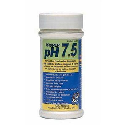 Aquarium Pharmaceuticals Presents Aquarium Pharmaceuticals (Ap) Proper Ph 7.5-260gm (Treats 200 Gallons). Easy-to-Use, Fast Dissolving Powder that Automatically Sets and Stabilizes Ph at 7.5 while Neutralizing Chlorine and Detoxifying Heavy Metals. Contains Aloe Vera and Electrolytes to Reduce Fish Stress. Use when Setting Up Aquarium or Changing Water. [29774]