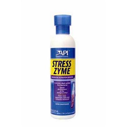 Aquarium Pharmaceuticals Presents Aquarium Pharmaceuticals (Ap) Stress Zyme 8oz. Contains 300 Million Live Bacteria Per Teaspoonful. Helps Clean an Aquarium by Eliminating Sludge Build-Up. Prevents Ammonia &amp; Nitrite Poisoning, Low Oxygen Levels &amp; Low Ph. Use when Setting Up and Maintaining an Aquarium. [29791]