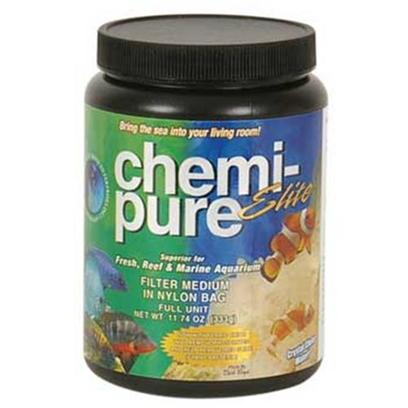 Boyd Enterprises Presents Boyd Chemi Pure Elite Grand 40oz Chemi-Pure. Chemi-Pure is Still a Very Revolutionary Product, and Practically all Aquarium Filter Mediums have been Patterned After It! Over the Years Boyd Enterprises has Continually Upgraded Chemi-Pure with Better Ingredients and Manufacturing Processes to Keep it the Most Effective Filter Medium Available! Now with Chemi-Pure Elite, Boyd Enterprises has Taken the Next Step in Keeping Chemi-Pure the Ultimate and Complete Choice for Filtering your Aquarium. It is the Latest in Reef Aquarium Science. Chemi-Pure Elite Comes Added with Ferric Iron Oxide in Order to Remove Phosphate and Silicates. Ferric Iron Oxide has been Proven as One of the Top Choices for Removing and Controlling any Phosphate and/or Silicate Problem Within your Aquarium. It is the Ultimate Filter for Reef Aquarium Filtration and Reef Care will be Easier from Now On. Get all the Benefits of Chemi-Pure Now with the Added Benefit of Being Able to Remove all your Phosphate and Silicates. No Need for Bulk Iron Oxide Removers or Spending Additional Money on a Phosphate Reactor. Chemi-Pure Elite Keeps Making your Aquarium Easier by Being Prepackaged in a Nylon Filter Bag, just Rinse Before Adding to your Aquarium and Start to Enjoy a More Maintenance Free Aquarium as it Helps Control any Nuisance Algae and Keeps your Aquarium Crystal Clear! Longer Life - Fish Often Live 3 to 4 Times Longer than in any Other Closed System, Fresh or Marine. Constant Ph - Always Within the Safe Range Protects Necessary Organisms - Allowed Growth with no Danger of Pollution. Use with Real Sea Water or Artificial Removes Toxic Elements - Including Copper &amp; Phenol Removes Organic Particulates Quicker Responses - Neurological Reactions Like Fishes in Natural Habitat. Good for Saltwater &amp; Freshwater Fishes - Helps all Species Thrive. Especially Good for African Cichlids &amp; Discus Crystal Clear Water - Always Sparkling Blue-White Water no Osmotic Shock - 90% Eliminated no Ion Antagonism Eliminates Phosphates and Silicates [29830]