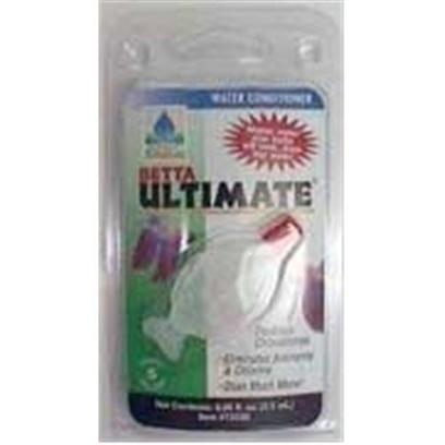 Hikari Usa Presents Hikari Betta Ultimate .08oz. Betta Ultimate Offers an Easy-to-Use Dispenser and Treats 16 Ounces of Water with just One Drop. The Product Cannot be Overdosed and Residual Product in the Water will Remove Ammonia Put there by your Betta. Give your Betta the Best Environment Possible Using Betta Ultimate's Patented Technology and Ordinary Tap Water! 0.08 Oz Bottle Treats 5 Gallons. [29895]
