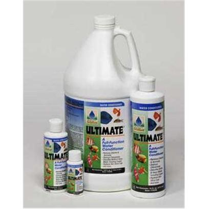 Hikari Usa Presents Hikari Ultimate Gallon Ultimate-Complete Water Conditioner. Ultimate is the World's First Full-Function Water Conditioner. With Everything you Need in One Bottle to Maintain a Superior Environment for your Aquatic Pets. For New Setups Ultimate Instantly &quot;Ages&quot; Water Allowing you to Enjoy your Pets in Action Quicker without Fear of the Negative Impact of Toxic Chloramine, Ammonia, Chlorine, Heavy Metals or Nitrite. [29907]