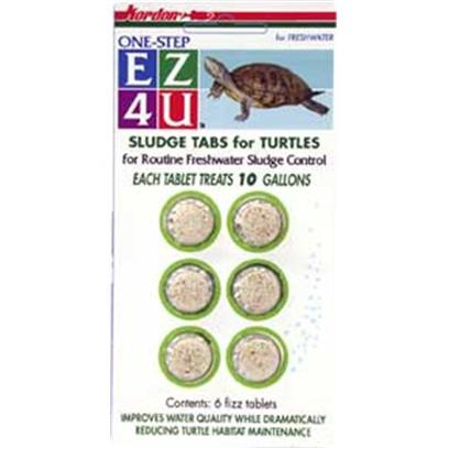 Kordon/Oasis Presents Kord Ez4u Turt Sludge 10gal 10gallon. Ez4u Sludge Tabs for Turtles were Developed to Make Sludge Control Error-Free for Beginners as Well as for Experienced Turtle Keepers who Need to Treat Smaller Amounts of Water for a Turtle Water Habitat. The Pre-Measured Tablet Doses Replace the Need to Measure Liquids. The Tablets are Environmentally Safe and Effective in Fresh, Brackish, or Salt Water. [29985]