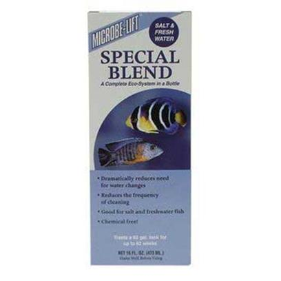 Ecological Labs (Microbe-Lift) Presents Mic Special Blend Aquarium 8.5oz. Reef, Marine &amp; Freshwater Safe Bacterial Products Dramatically Reduces Need for Water Changes &amp; Cleanings Keeps Tanks Clean and Clear Longer Good for Salt and Freshwater Fish Chemical Free also Available in 4 Oz, 8oz &amp; 16 Oz. [30037]