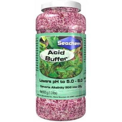 Seachem Laboratories Presents Seachem Acid Buffer 50 Gram. Acid Buffer is a Non-Phosphate Buffer to Lower Ph and Buffer with Alkaline Buffer. Both Buffers are Designed for the Planted Aquarium or for Very Hard Water where Phosphate Buffers may Pose an Algae or Cloudiness Problem. Acid Buffer Lowers Ph and Buffers Between 5.0 and 8.0 when Used with Alkaline Buffer . As Acid Buffer Lowers Ph it Converts Carbonate Alkalinity (Kh) into Available Co 2 . It may also be Used to Safely Lower Ph in Marine Water. [30048]