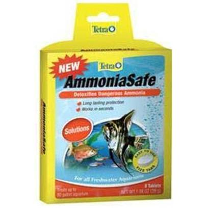 Tetra Usa Presents Tetra Ammoniasafe Tab 8tab Tank Buddy Tablets. Ammoniasafe Detoxifies Ammonia Tetra Fizz Tabs are Fast-Dissolving, Premeasured Tablets that Make Caring for an Aquarium Faster, Easier and More Convenient Treats 10 Gallons [30166]