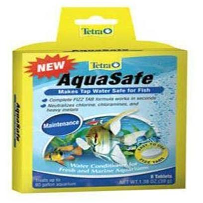 Tetra Usa Presents Tetra Aqua Safe Tabs 8tab. Makes Tap Water Safe for Fish Tetra Fizz Tabs are Fast-Dissolving, Premeasured Tablets that Make Caring for an Aquarium Faster, Easier and More Convenient Aquasafe - Dechlorinator Treats 10 Gallons [30167]