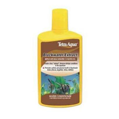 Tetra Usa Presents Tetra Blackwater Extract 8.45oz. Blackwater Extract Contains Trace Elements, Vitamins and Extract of Peat. It Replicates Blackwater Conditions by Creating Clear, 'Natural', Amazon Biotope Conditions in the Aquarium. Blackwater Extract Promotes Fish Activity Levels and is an Excellent Conditioner for all Soft Water Fish Including Discus, Angelfish, Tetras and Killifish. [30177]