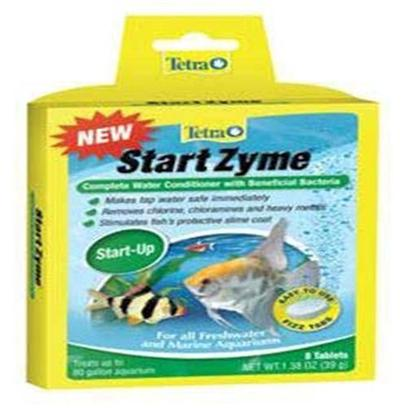 Tetra Usa Presents Tetra Startzyme Tabs 8tab Tank Buddy Tablets. Complete Water Conditioner with Beneficial Bacteria Tetra Fizz Tabs are Fast-Dissolving, Premeasured Tablets that Make Caring for an Aquarium Faster, Easier and More Convenient Neutralizes Chlorine, Chloramines, Heavy Metals Contains Beneficial Bacteria and Enzymes to Establish the Biological Cycle Treats 10 Gallons [30189]