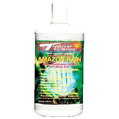 Tropical Science Labs Presents Tr Sci Amazon Rain 14.5oz. Amazon Habitat. Provides all of the Essential Elements Necessary to Stabilize a Low Ph without the Constant 'Trampoline Effect' that Occur with Most Black Water Formulas. Formulated to Provide Optimum Water Conditions for Disus, Tetras, Severums, Angels and all Other South American Soft-Water Species. Available in 5 Oz., 14.5 Oz., 64 Oz., 1 Gal., and 5 Gal. [30195]