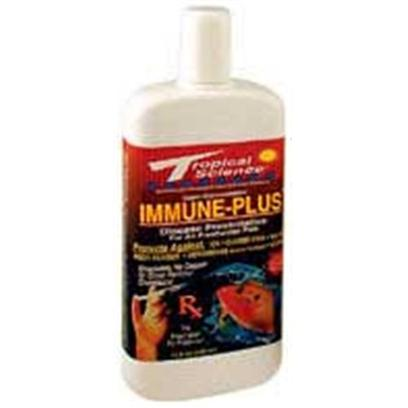 Tropical Science Labs Presents Tr Sci Immune Plus 2oz (30205). Immune Plus is a Disease Preventative for all Freshwater Fish. Protects Against Ick, Closed Fins, Velvet, Body Fungus, Aeromonas (Hole in the Head) and Vibrio. This is a Revolutionary Probiotic Formula that Contains Billions of 'Bacterial Bodyguards' to Protect your Fish from Disease. It Contains Absolutely no Copper, Copper Sulfate, Copper Salts, Green or Blue Dyes, Dangerous Chemicas, Drugs or Hazardous Pesticides. Safe for all Freshwater Fish and Plants. Treats 240 Gallons. [30205]