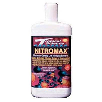 Tropical Science Labs Presents Tr Sci Nitromax Bacteria Blend 2oz. Our World-Famous, Proprietary Blend of Highly Concentrated Nitrifying Bacteria's. Contains the Ammonia and Nitrite Oxidizers Necessary for Optimal Biological Filtration in an Aquatic Environment. This is a 'Pure-Blend' of only the Non-Pathogenic Bacteria you Need - no Filters. Available for Freshwater in 2 Oz., 5 Oz., 64 Oz., 1 Gal., and 5 Gal. [30210]