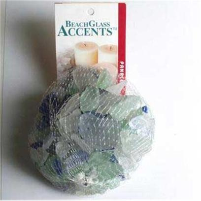 Panacea Products Presents Pan Beach Glass 1lb Green/Ice Blue Bag Asst. Green &amp; Blue 1 Lb [30233]