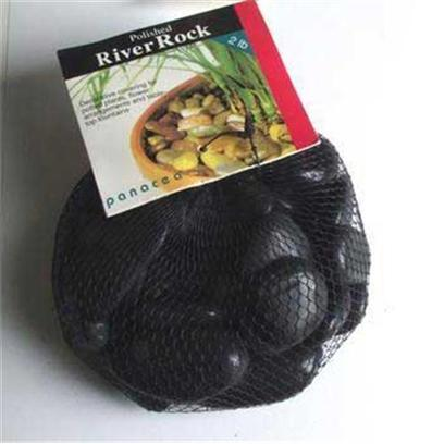 Panacea Products Presents Pan River Rock 2lb Black Polished Bag. Black 2 Lb [30302]