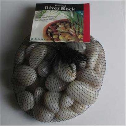 Panacea Products Presents Pan River Rock 2lb White Polished Bag. White 2 Lb [30304]
