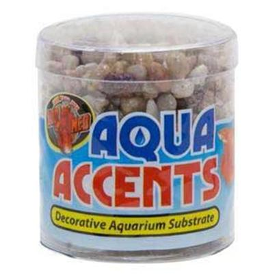 Zoo Med Laboratories Presents Zoo Light River Pebbles 1/2lb Aqua Accents.  Epoxy Coated Aquarium Gravel/Sand Safe for all Freshwater and Saltwater Aquariums.  Excellent for Fishbowls or Nano Tanks.  no Rinsing Necessary. Will not Cloud Water. 1/2 Lb [30329]