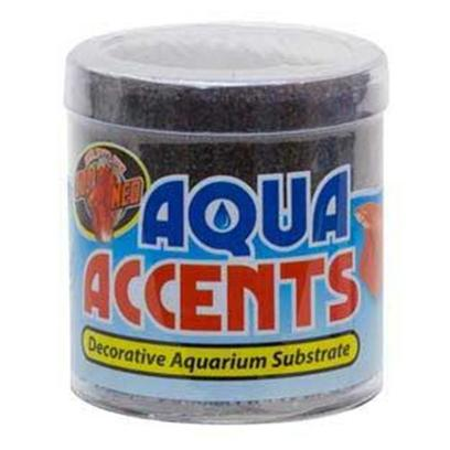 Zoo Med Laboratories Presents Zoo Midnight Black Sand 1/2lb Aqua Accents.  Epoxy Coated Aquarium Gravel/Sand Safe for all Freshwater and Saltwater Aquariums.  Excellent for Fishbowls or Nano Tanks.  no Rinsing Necessary. Will not Cloud Water. 1/2 Lb [30330]