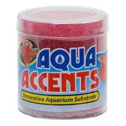 Zoo Med Laboratories Presents Zoo Radical Red Sand 1/2lb Aqua Accents.  Epoxy Coated Aquarium Gravel/Sand Safe for all Freshwater and Saltwater Aquariums.  Excellent for Fishbowls or Nano Tanks.  no Rinsing Necessary. Will not Cloud Water. 1/2 Lb [30331]