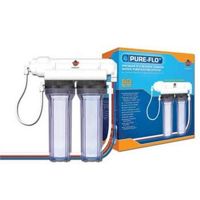 Coralife Presents Coralife (Cl) Pure Flo Ii Ro Unit 24gpd Reverse Osmosis. Great for Freshwater, Saltwater, and Reef Aquariums Pure-Flo R.O. Tfc Systems Generate Purified Water from Chlorinated and Well-Water Sources. It Removes Hardness, Heavy Metals, Toxins and Many Other Tap Water Impurities. Includes Clear Filter Canisters, Cartridges, Tfc Membrane and Faucet Attachments. [30438]