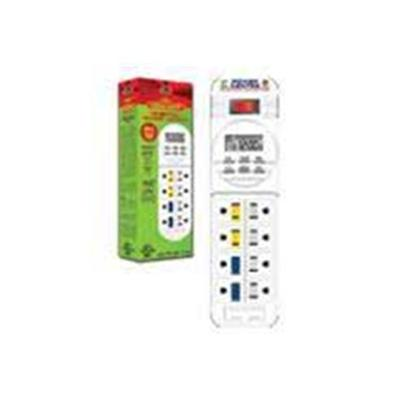 Coralife Presents Aqualight Digital Power Center Day-Night Timer. Aquarium Version Power Strip has Two Digital Timers that Control 4 Outlets Each Total 8 Outlets a Total of 1875 Watts [30443]