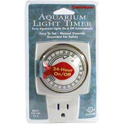 Marineland Presents Marineland (Ml) Light Timer-24hr Grounded 24hr. Designed Especially for Use with all Freshwater and Marine Aquarium Lights, it is Easy to Set, Features a Manual Override, and is Grounded for Operational Safetly. Rated at 15 Amps. [30488]