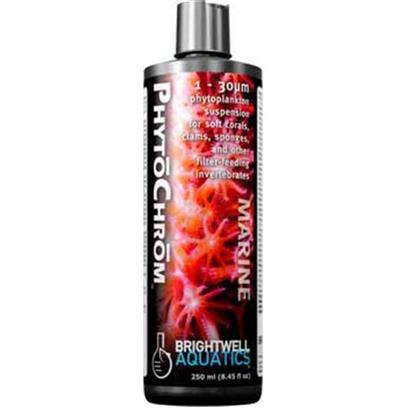 Brightwell Aquatics Presents Brightwell Aquatics (Bwell) Phytochrom 8.5oz/250ml.  Provides 6 Types of Phytoplankton Ranging in Size from 1 - 30m.  Ideally-Sized for Many Soft Corals, Clams, Sponges, Tunicates, Tube Worms, Bryozoans, Larval Crustaceans, and Juvenile Fishes.  Formulated to Provide over 200-Million Phytoplankton Cells Per Ml.  does not Require Refrigeration.  Supplemented with a Proprietary Amino Acid to Aid in Coloration of Invertebrates.  Formulated by a Marine Scientist. [30806]