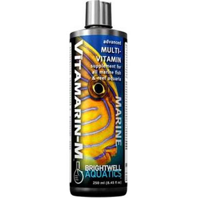 Brightwell Aquatics Presents Brightwell Aquatics (Bwell) Vitmarin-M Vitamarin-M Multiviamin Supplement 8oz 250ml.  Full-Spectrum Vitamin Supplement Formulated to Benefit Marine Fishes, Corals and Other Invertebrates, and Other Marine Aquarium Inhabitants.  Provides a Full-Complement of Vitamins in the Same Ratios Found in the Tissues of Filter-Feeding Marine Invertebrates, Organisms that Extract Plankton from the Surrounding Water and Gain their Nutritional Benefit, and which are in Turn Consumed by Many Reef Inhabitants.  Requires no Refrigeration.  Composed of Purified Water and Ultra-High Purity Materials.  Formulated by a Marine Scientist. [30823]