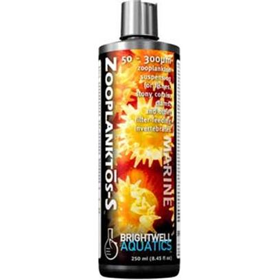 Brightwell Aquatics Presents Brightwell Aquatics (Bwell) Zooplanktos S-8.5oz/250ml. • Provides Zooplankton and Fully-Digestible, Unhatched Eggs • Ideally-Sized for Many Stony Corals, Clams, Sponges, Tunicates, Tube Worms, Larval Crustaceans, Juvenile Fishes, and Adult Planktivorous and Microinvertebrate-Predatory Fishes. • Formulated to Provide over Four-Thousand Prey Per Ml. • does not Require Refrigeration. • Supplemented with a Proprietary Amino Acid to Aid in Coloration of Invertebrates and Fishes. • Formulated by a Marine Scientist. [30825]