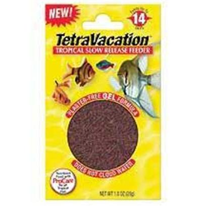 Tetra Usa Presents Tetra Vacation Feeder 14 Day 1.06oz. Now you can Feel Safe About Leaving your Fish when Traveling Existing Plaster Blocks are 'Old School' Technology that can Wreak Havoc on your Water Quality! Tetra's Innovative New Gel Feeder Block Contains no Plaster and Feeds Up to 14 Days with the Tetravacation™. Blended with Patented Procare for Optimal Health.- [30867]
