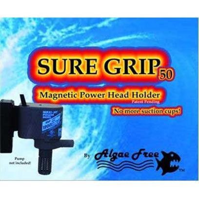 Algae Free Presents Alg Sure Grip 50 Magnet Holder 100 Maxijet. For Use on Glass or Acrylic of Thickness of 1/2&quot; or Less a Set of Powerful Magnets with an Assortment of Brackets to Fit the Following Powerhead Makes/Models Maxijet 400 - 600 - 900 - 1200 Seio Superflow M620 - M820 - M1100 - M1500 Tunze Stream [30882]