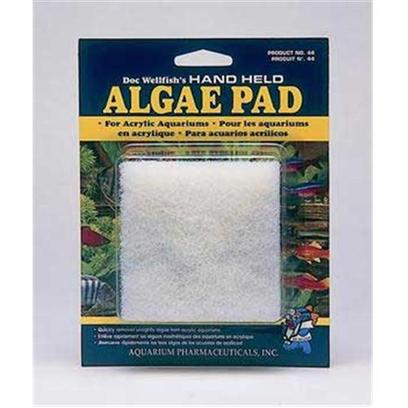 Aquarium Pharmaceuticals Presents Aquarium Pharmaceuticals (Ap) Algae Scraper Pad with Handle-Acrylic Aquariums. Indestructible Pad which Gives the User Hand-Held Control to Reach in and Clean the Algae from the Nooks and Crannies of the Aquarium. For Acrylic Aquariums. 3 Inch Square [30887]