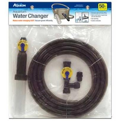 Aqueon Presents Aqen Water Changer 50. The Aqueon Aquarium Water Changer was Developed to Make Routine Water Changes and Vacuuming Gravel Easy and Efficient for any Level Aquarist. Complete Water Flow Control Prevents Spillage, Facilitates More Complete, Thorough Cleaning and Eliminates the Need for Lifting Heavy Buckets of Water. [30904]
