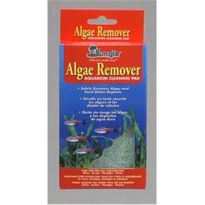 Jungle Laboratories Presents Jungle Algae Remover Clean Pad Cleaner. Algae Remover Aquarium Cleaning Pad Safely Removes Algae and Hard Water Deposits,'Made of Nontoxic, Recycled Material, this Nonabrasive Pad Safely Cleans any Aquarium Surface Including Glass, Acrylic, Plexiglas or Plastic. Removes Algae, Water Lines, Salt Residue and Hard Water Deposits and is Handy for Cleaning Plastic Plants, Ornamen','Before Each Use, Wet the Pad, then Gently Rub Surfaces to be Cleaned. Rinse Pad with Tap Water After Each Use. Avoid Getting Sand or Gravel on the Pad as these will Cause Scratches to Surfaces. Avoid Extreme Pressure as this may Cause Surface Scratches O','Pad with Handle (18)''' [30994]
