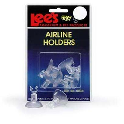 Lee's Presents Lees Airline Suction Cups 6pk 6 Pack. The Aquarium Wall. Packaging Blister Card with 6 Airline Holders and 6 Suction Cups [31020]