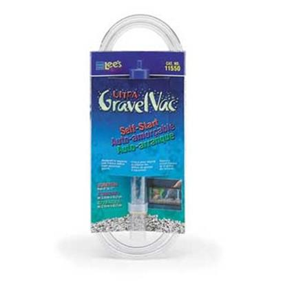Lee's Presents Lees Gravel Stretch Mini Vacuum. Designed to Separate Debris from Gravel and Remove it from the Aquarium while Performing Routine Water Changes. Gvc Entends from 9' to 17' [15/16' X 8' Cylinder Fits Inside 1' X 9'-Cylinder, Cardboard Sleeve [31035]