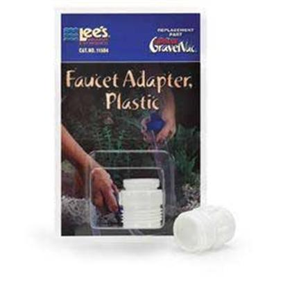 Lee's Presents Lees Ult Vac Adapter Plastic Ultimate Gravel Adapter-Plastic. Replacement Part for Ultimate Grave Vac. Plastic Packaging Blister Card [31046]