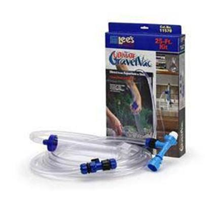 Lee's Presents Lees Ultimate Gravel Vacuum-50ft Vac 50' Kit. Drian the Dirty Water Right into the Sink and Refill the Aquarium with Ease.. No More Need for Heavy, Messy, Unwieldy Buckets. Water Changes Refresh your Aquarium with Precious Nutrients and Remove Excess Debris Such as Fish Waste, Uneaten Food and Decomposed Plant Matter. Twenty-Five Percent Water Changes should be Performed at Least Once a Month in Order to Maintain a Healthy Aquatic Environment. Size 50' Packaging Hanger-Tab Box [31053]