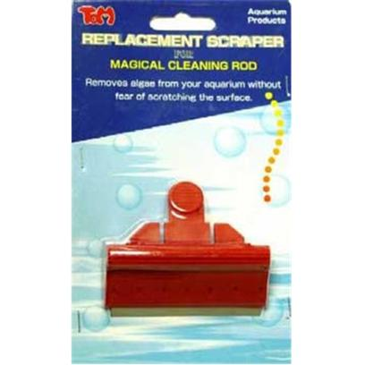 Tom (Tominaga/Oscar) Presents Tom Magical Cleaning Replacement Scaper Blade for the Rod. Replacement Stainless Steel Algae Scraper Fits #1238, #1239 and #1240 Attachment Easily Snaps into Algae Scraper. [31153]