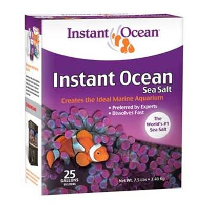 Instant Ocean-Aquarium Systems Presents Instant Ocean-Aquarium Systems (Io) Sea Salt 7.5lbs Treats 25 Gallons. Instant Ocean Sea Salt is the Most Carefully Formulated and Universally Preferred Sea Salt in the World. The #1 Choice of Hobbyists, Public Aquariums, and Scientific Research Facilities, Instant Ocean Sea Salt has Set the Industry for Quality, Consistency, and Value for More than 40 Years. Instant Ocean Sea Salt Contains Every Necessary Major, Minor, and Trace Element and has no Nitrates and no Phosphates. It was Developed through Sophisticated Biological and Chemical Testing, and Every Batch is Analyzed to Assure Consistent High Quality. Exceptional Solubility, Uniform Particle Size, and Outstanding Package Value have Made Instant Ocean Salt the Choice of Aquarists for over 40 Years. No Other Product Outperforms Instant Ocean Salt. Our Guarantee of Quality is Supported by a History of Proven Usage. Instant Ocean is the World's Most Popular Brand of Sea Salt. [31175]