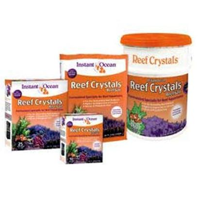 Instant Ocean-Aquarium Systems Presents Instant Ocean-Aquarium Systems (Io) Reef Crystal Salt 160gallon Sea (Pail). Formulated for Reef Aquariums and Contains Essential Ocean Reef Elements in Concentrations Greater than Those Found in Natural Sea Water. Features Extra Calcium to Help Ensure the Growth of Large and Small Polyp Stony Corals as Well as Coralline Algae; Extra Trace Elements to Provide an Additional Measure of Vital Nutrients; Extra Vitamins to Ensure Vigorous Growth and Survival of Corals, Anemones and Other Invertebrates in a Captive Environment; Metal Detoxifier to Neutralize Traces of Heavy Metal Often Present in Domestic Water Supplies. [31181]