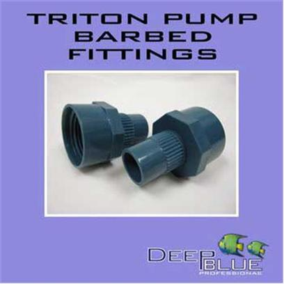 "Deep Blue Professional Presents Deep Blue Professional (Db) Triton Barbed Fitting Db Pump 3/4' Twin Pack. Triton Pump 3/4"" Barbed Fitting Twin Pack 3/4"" Twin Pack [31889]"