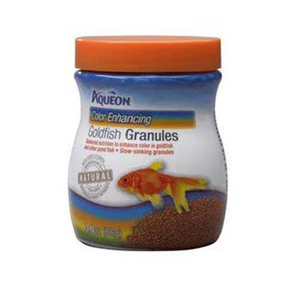 Aqueon Presents Aqueon Goldfish Color Granules 3oz. Aqueon Foods Contain only Natural Ingredients and Contain no Artificial Colors. The Colors of the Foods are Attributed to the Actual Ingredients in the Formula, and Help to Bring out the Natural Colors in your Fish, while Keeping them Energetic and Healthy. Guaranteed Analysis Crude Protein (Min).....35% Crude Fat (Min) ..............5% Crude Fiber (Max)...........5% Moisture (Max).................9% Phosphorus (Min)...........1% [31988]